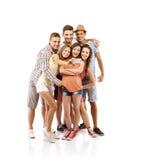 Gruppe glückliche Kursteilnehmer Stockfotos
