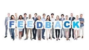 Gruppe glückliche multiethnische Geschäftsleute Lizenzfreies Stockbild