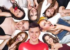 Gruppe glückliche verschiedene Leute Lizenzfreie Stockfotografie