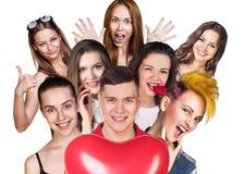 Gruppe glückliche verschiedene Leute Stockfotografie
