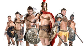 Gruppe Gladiatoren lizenzfreie stockfotografie