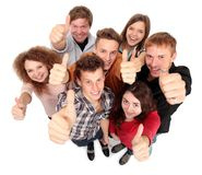 Gruppe glückliche frohe Freunde Stockfotografie