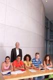 Gruppe glückliche Kursteilnehmer Stockfoto