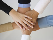 Gruppe Hände Stockfoto