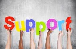 Gruppe Hände, die Unterstützung halten Lizenzfreies Stockfoto