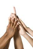 Gruppe Hände, die zusammen kommen lizenzfreies stockbild