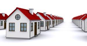 Gruppe Häuser mit roten Dächern Lizenzfreie Stockfotografie