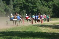 Gruppe im Blockierrennen Stockfoto