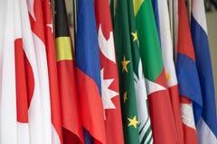 Gruppe internationale Flaggen Lizenzfreie Stockfotografie