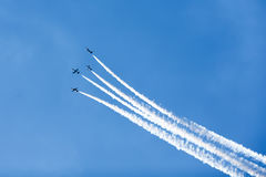 Gruppe Jets im Himmel stockfoto