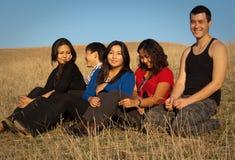 Gruppe junge asiatische Leute Lizenzfreie Stockbilder