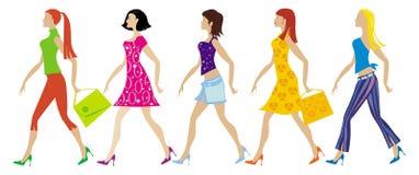 Gruppe junge Damen Stockbild
