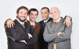 Gruppe junge Geschäftsmänner zusammen lizenzfreie stockfotografie