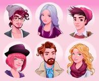 Gruppe junge Leute Stockbilder