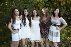Gruppe junge Mädchen lizenzfreies stockbild