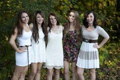 Gruppe junge Mädchen lizenzfreie stockfotografie