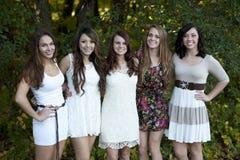 Gruppe junge Mädchen lizenzfreie stockfotos
