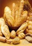 Gruppe köstliches Brot lizenzfreies stockfoto
