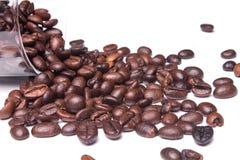 Gruppe Kaffeebohnen Stockfotografie