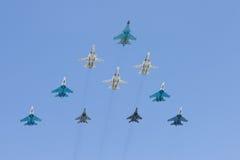 Gruppe Kampfflugzeuge Lizenzfreie Stockbilder