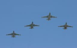 Gruppe Kampfflugzeuge Stockfotografie