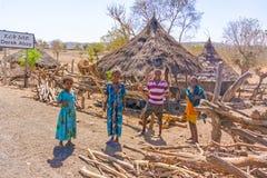 Gruppe Kinder in Äthiopien Lizenzfreie Stockfotos