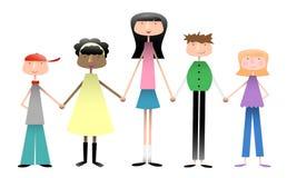 Gruppe Kinder Lizenzfreie Stockfotografie