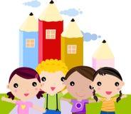 Gruppe Kinder Lizenzfreie Stockfotos