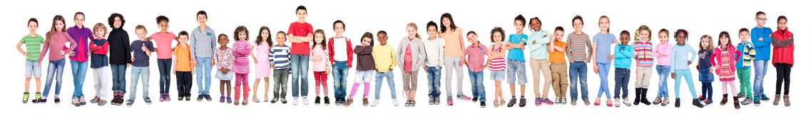 Gruppe Kinder stockfotos
