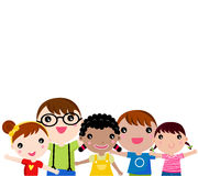 Gruppe Kinder, die Spaß haben Stockfoto