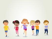 Gruppe Kinderdes laufens vektor abbildung