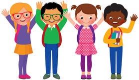 Gruppe Kinderstudenten Lizenzfreies Stockfoto