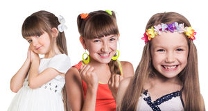 Gruppe kleine glückliche Mädchen Stockfotografie