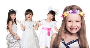 Gruppe kleine glückliche Mädchen Lizenzfreies Stockbild