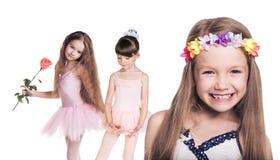 Gruppe kleine glückliche Mädchen Lizenzfreie Stockbilder