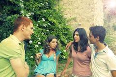 Gruppe Kursteilnehmer Pisa Italien lizenzfreies stockfoto