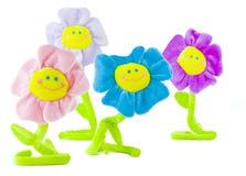Gruppe lächelnde Blumen Stockfotografie