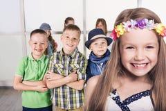 Gruppe lächelnde Kinder Lizenzfreie Stockbilder