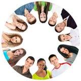 Gruppe lächelnde Leute    stockfoto