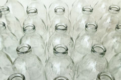 Gruppe leere Glasflaschen Stockfoto