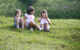 Gruppe Mädchen Stockfotos
