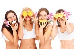 Gruppe Mädchen Stockbild