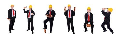 Gruppe Männer mit Hardhat lizenzfreie stockfotos