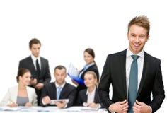 Gruppe Managerdiskussion Stockbilder