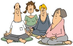 Gruppe Meditators Stockfotos