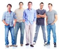 Gruppe Männer. Stockfoto