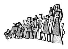 Gruppe moderne Leute Stockbilder