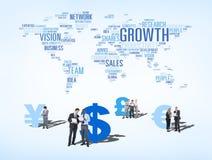 Gruppe multiethnische Geschäftsleute Diskussions- Stockfotografie