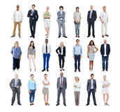 Gruppe multiethnische verschiedene Geschäftsleute Stockbilder