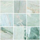 Gruppe Nahaufnahmeoberflächenmarmor-Steinwand-Beschaffenheitshintergrund Stockbild